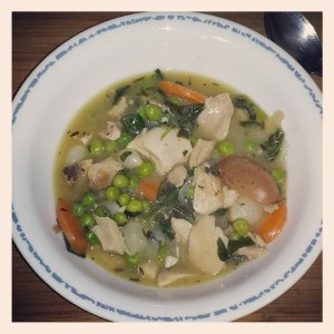 Chicken Stew with Baby Kale